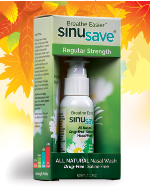 Free Sample of SinuSave® 100% Natural Nasal Spray – Just Pay Shipping